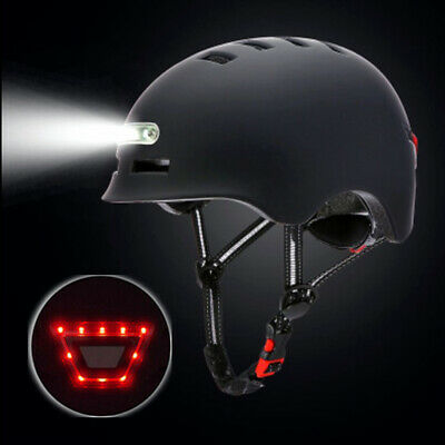 Cycling Helmet Mtb Bike Scooter Helmet With Usb Rechargeable LED Light UK Stock • 38.99£