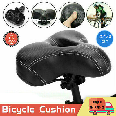 Universal MTB Extra Wide Comfy Cushioned Bike Seat Soft Pad Bicycle Gel Saddle • 9.95£