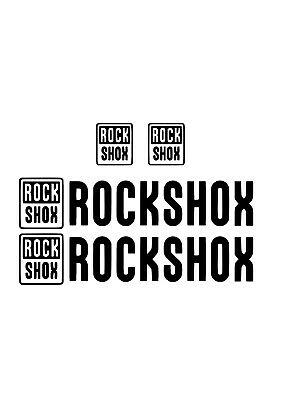Rock Shox Suspension Front And Rear Shocks MTB Decal Sticker Set  • 3.99£