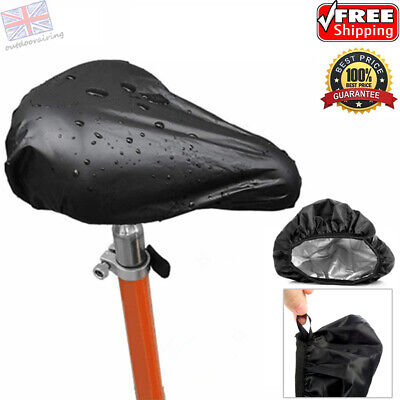 Waterproof Bike Seat Cover Bicycle Saddle Plastic Elastic Rain Cover Protective • 2.89£