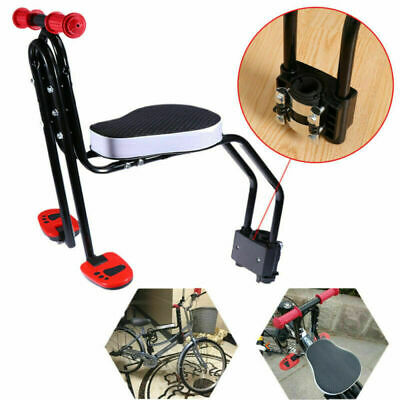 Front Mount Child Bike Seat Kid Safety Biycycle Carrier Chair With Pedal UK • 10.50£