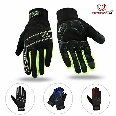 Winter Gloves Mens Cycling Gloves Full Finger Touchscreen Outdoor Thermal Warm • 6.99£
