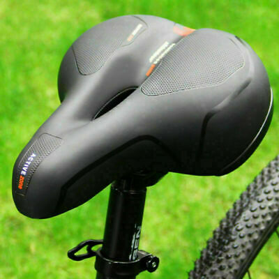 Wide Extra Comfy Bike Bicycle Gel Cruiser Comfort Sporty Soft Pad Saddle Seat • 9.89£