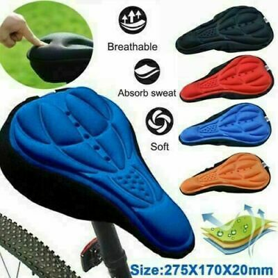 New Bike Bicycle Cycle Extra Comfort Gel Pad Cushion Cover For Saddle Seat Comfy • 3.89£